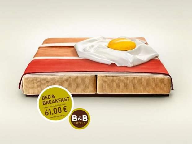B&B Hotels: Bacon, B&B Hotels, Publicis Frankfurt, Печатная реклама