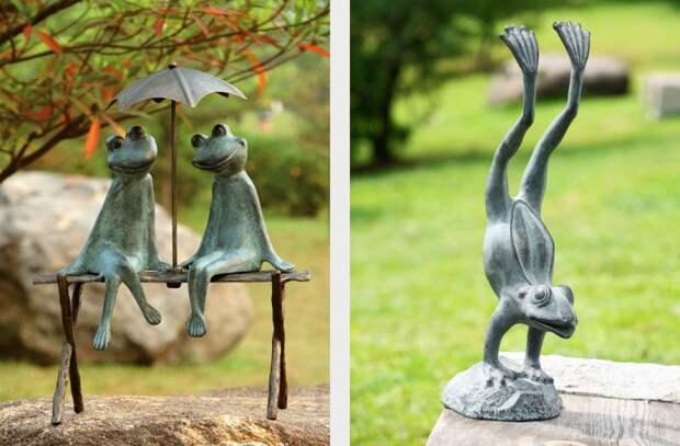 Скульптуры животных в саду