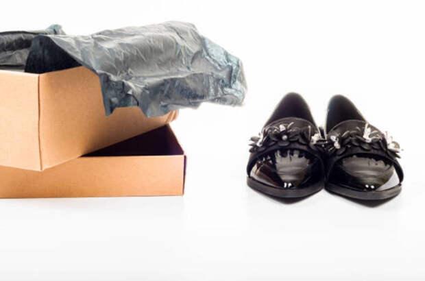 Хранение лакированной обуви