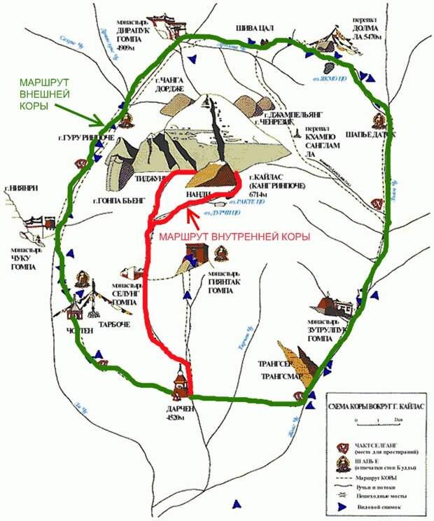Кора паломников вокруг горы Кайлас. Источник фото: https://magicnepal.livejournal.com/574.html