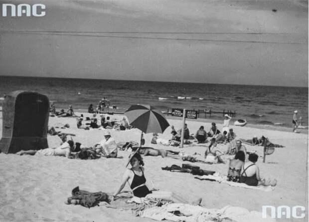 Польские пляжи перед войной