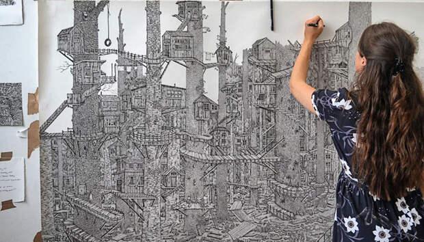 Целый мир на бумаге: британка создает невероятные пейзажи обычной ручкой