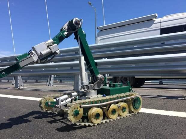 Робот-сапер на Крымском мосту/ фото СКТБ ПР
