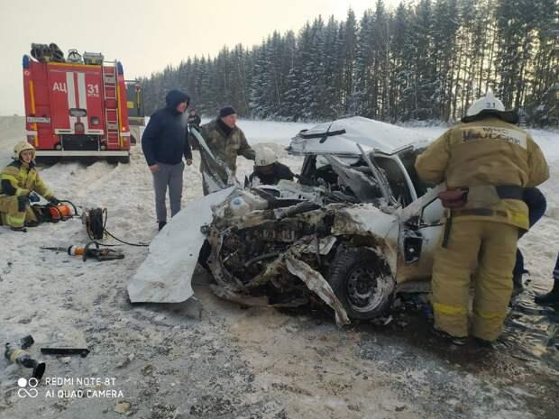 В Удмуртии скончался водитель, пострадавший при ДТП в Игринском районе
