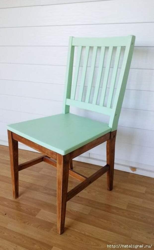 Продолжаем обновлять винтажные стулья