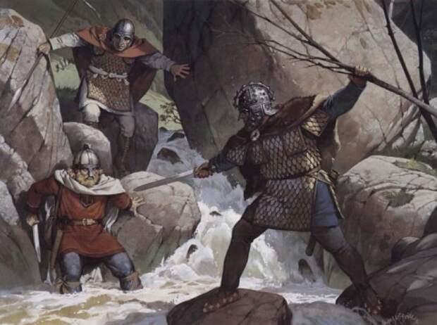 Романо-британцы захватывают рейдера-сакса (VI в.н.э.)