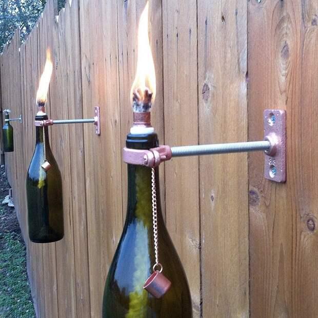 WineBottle04 22 способа превратить пустую бутылку в практичное произведение искусства