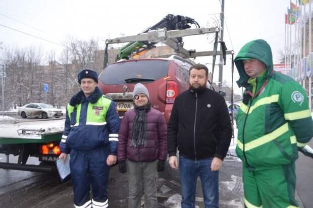 В Северном округе проведена акция, направленная на выявление водителей, нарушающих правила парковки