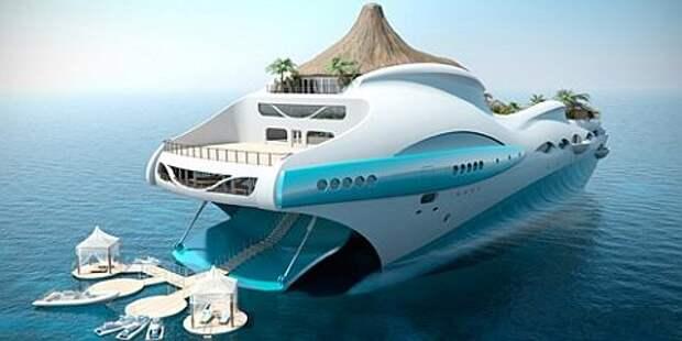 Для олигархов строят яхты-острова