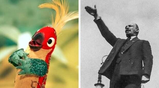 """Попугай из """"38 попугаев"""" и Ленин СССР, актёры., история, кино, факты, юмор"""
