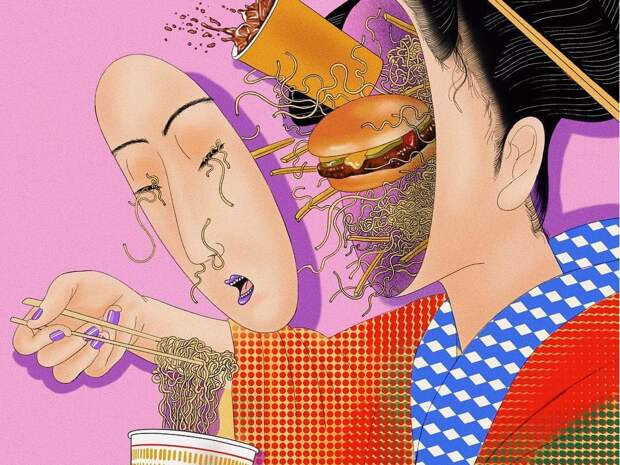 Награни реальности игаллюцинации: психоделические иллюстрации Мики Ким