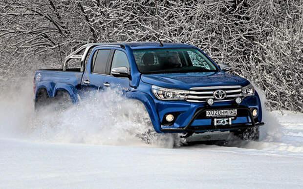 Тестируем шестиколесный пикап Toyota Hilux