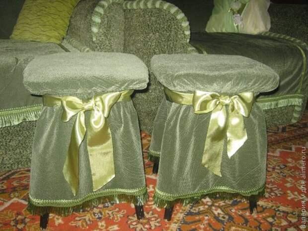 Чехлы на кухонные табуретки шьем сами