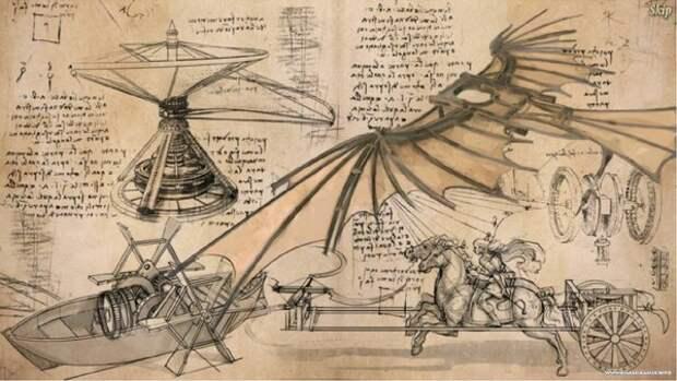Самые загадочные изобретения Леонардо да Винчи