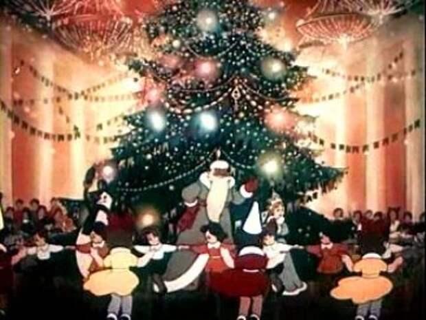Новогодние мультфильмы - Когда зажигаются ёлки
