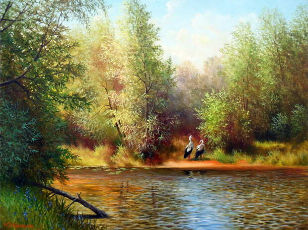 Великолепные русские пейзажи художника Юрия Корникова