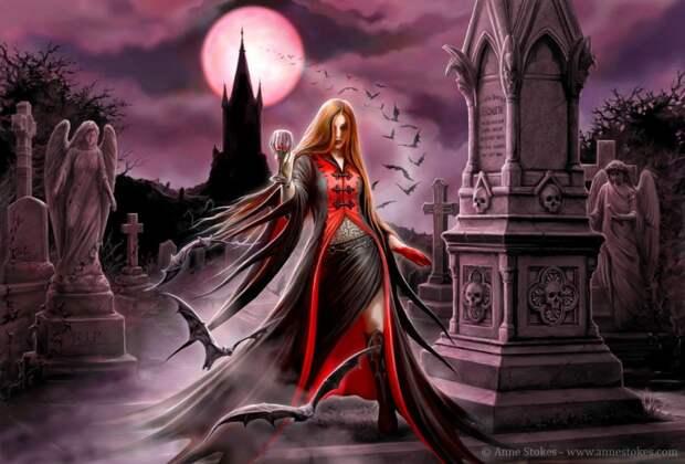 кровавая луна и девушка-вампир