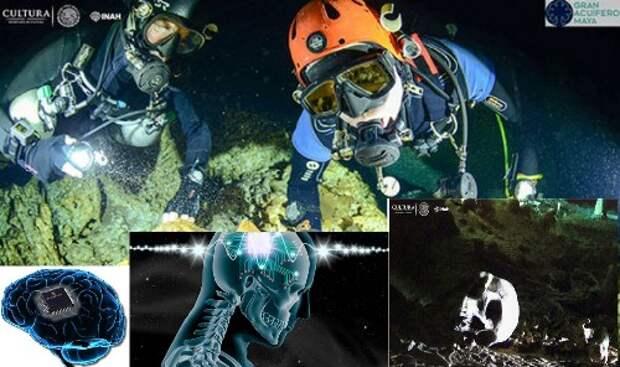 находка, археолог, артефакт, череп, мексика, микрочип
