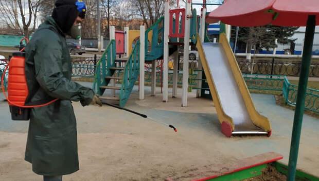В Подольске продезинфицировали детскую площадку по просьбе жительницы