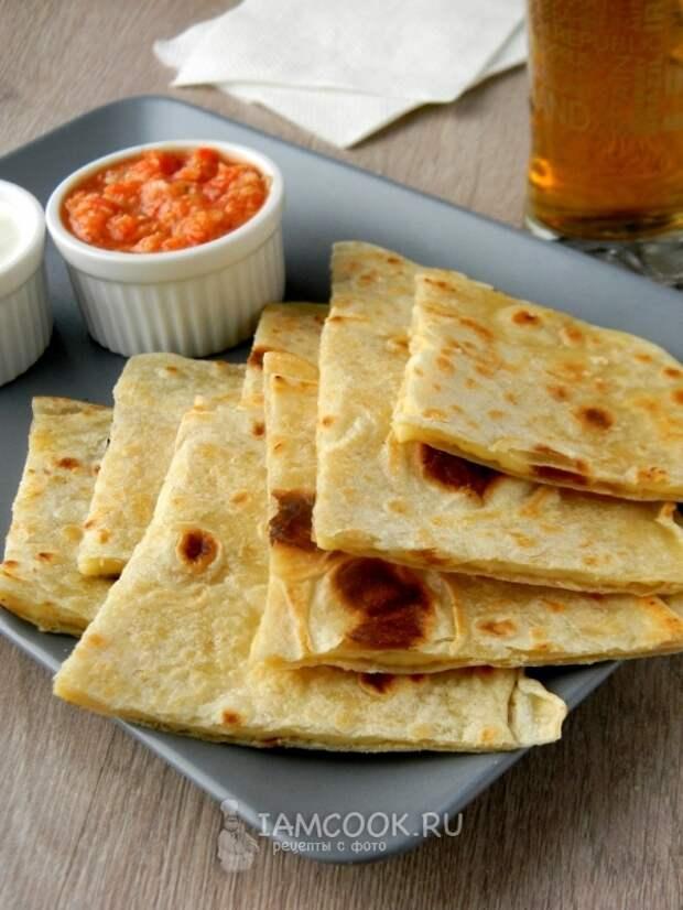 Фото кесадильи с сыром