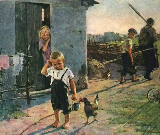 Деревенская жизнь в иллюстрациях советских художников.
