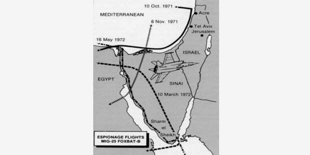 Карта вылетов МиГ-25