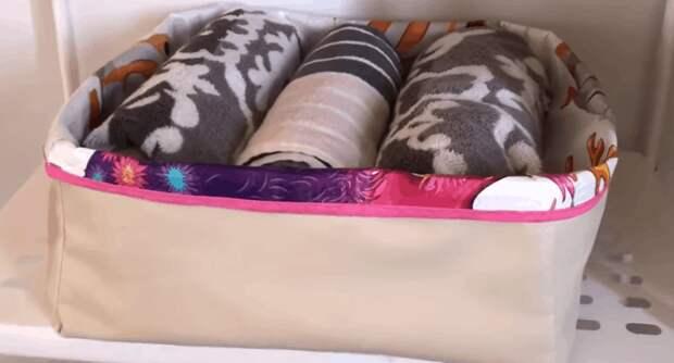 Практичная корзинка-органайзер для белья из ничего