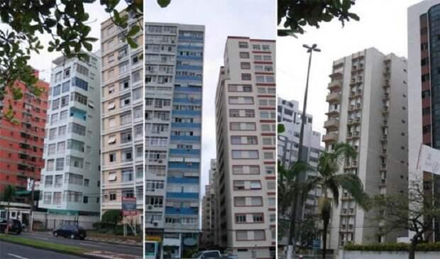 Жители Сантоса вынуждены проживать вот в таких «падающих» домах (Бразилия).   Фото: rc-cafe.blogspot.com.