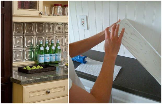 Скучные пластиковые панели преображаются после окрашивания.