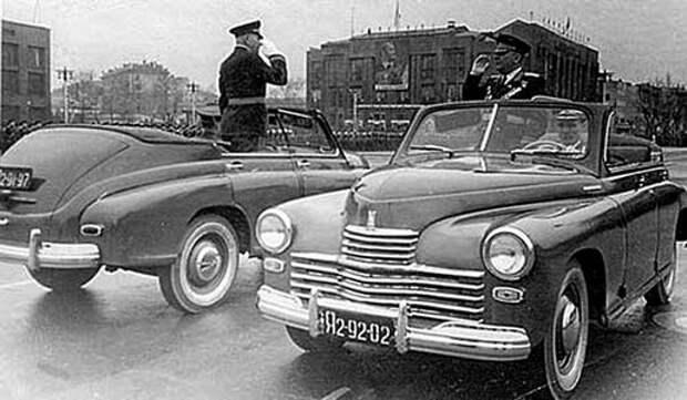Парадные и повседневные: легковые автомобили Советской Армии