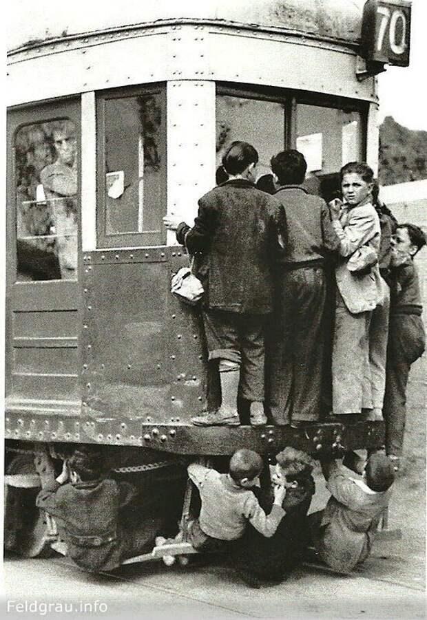 "Проезд ""зайцем"". Барселона, 1950 г.  история, люди, фото"