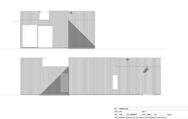 Просто и современно: Дачный дом с окнами в небо в Дании