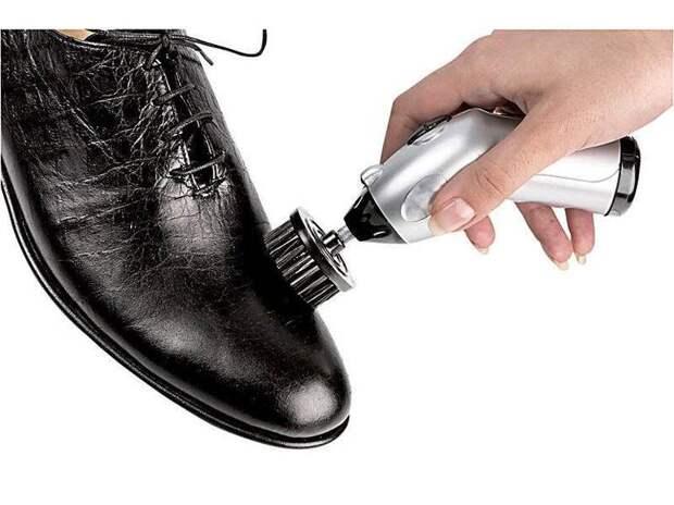 Полировка лакированной обуви