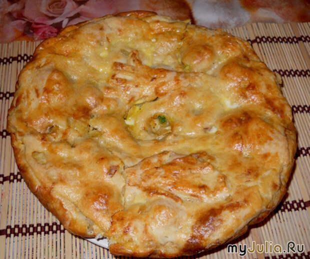 Саузварский рыбный пирог из мойвы