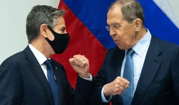 Глава МИД России Сергей Лавров с главой Госдепа Энтони Блинкиным