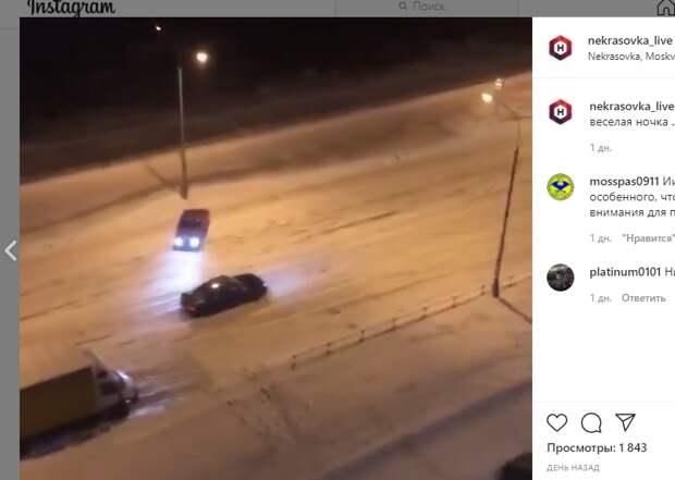Дрифтер врезался в столб на улице Маршала Еременко