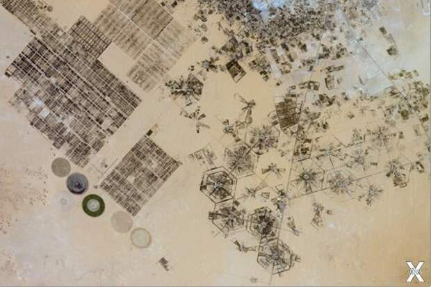 Сотовая система полива на востоке Ливии