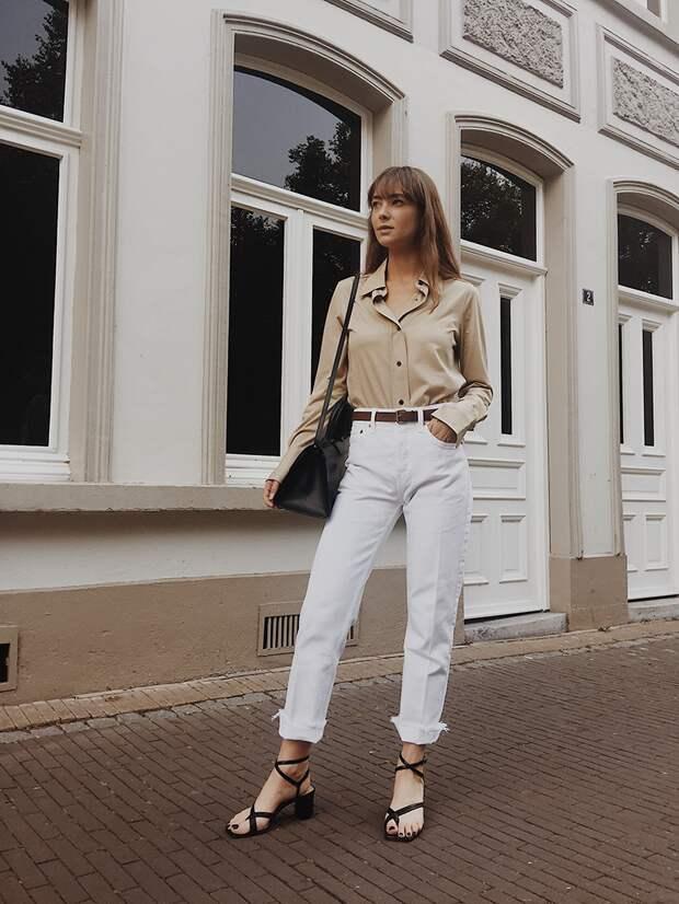 С чем носить джинсы летом фото 12