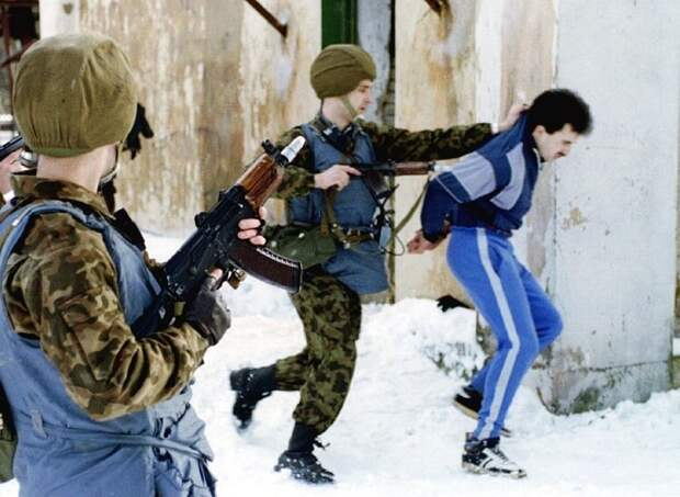 Special armed police arrest suspected mafia figures during a operation in Moscow February 2. Soaring..