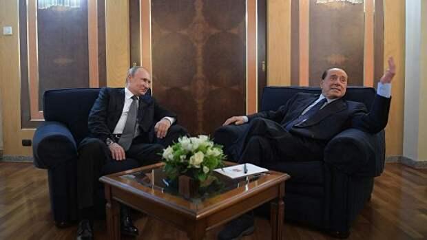 Берлускони рассказал об обещании, данном Владимиру Путину