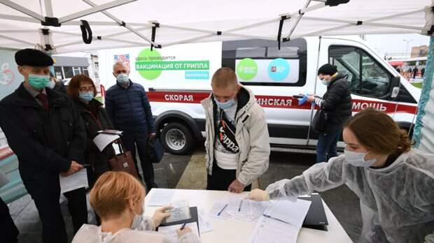 Роспотребнадзор сообщил о вакцинации более 13 млн россиян от гриппа