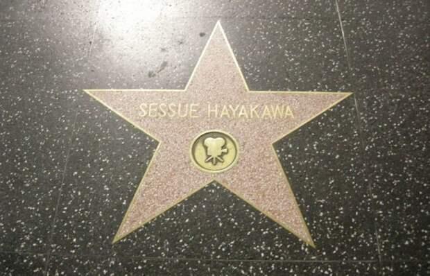 Звезда Хаякавы на Голливудской аллее славы. /фото:thevintagenews.com