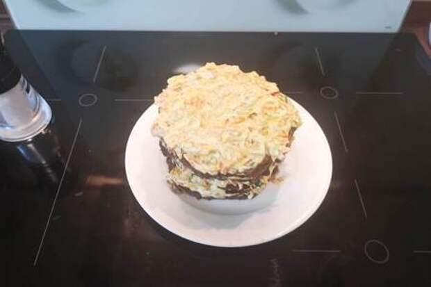 Печеночный тортик: фото шаг 2