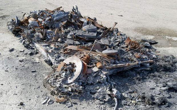 Жадность 80 lvl: сгоревший дотла Ferrari выставлен на продажу