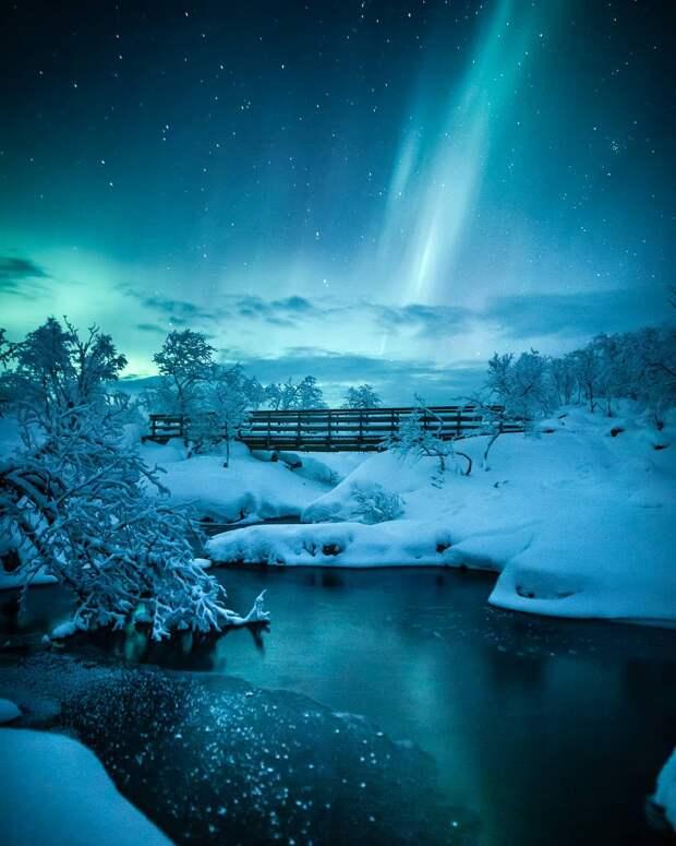 Всполохи северного сияния на снимках финского фотографа