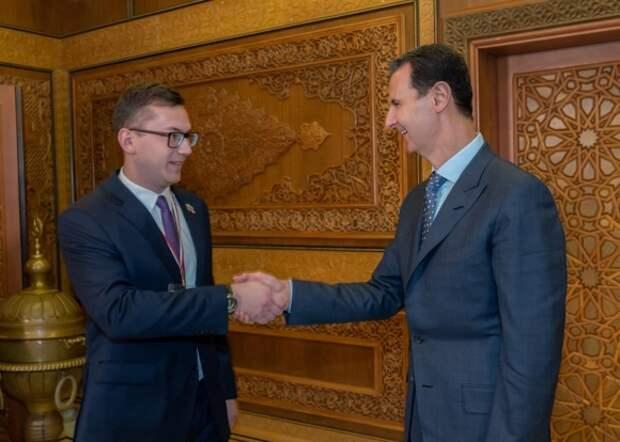 Маликов с Башаром Асадом
