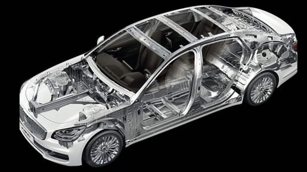 Компания Kia показала первые фотографии обновленного седана K900