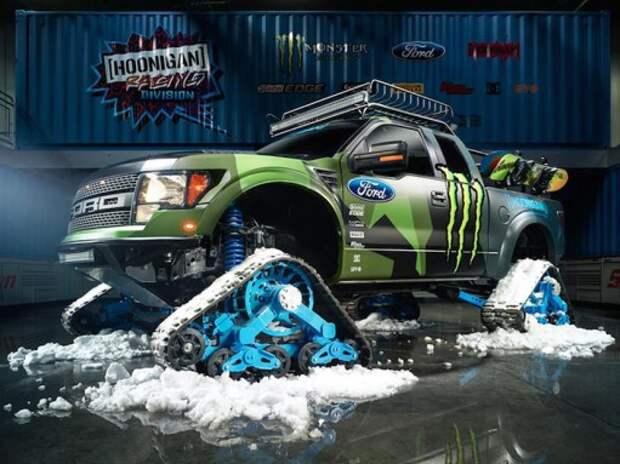 Ford F-150 RaptorTRAX: Кен Блок и его самый быстрый в мире снегоход