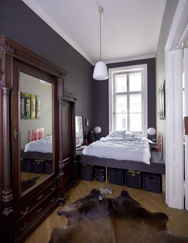 Хранение вещей в спальне