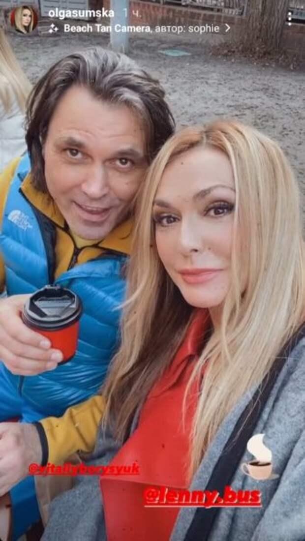 Ольга Сумская с Виталием Борисюком: скриншот Инстаграм-сториз